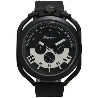 Olivia Pratt Bold Men's 3-Dial Leather Band Watch