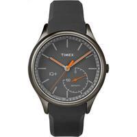 Timex Men's TW2P95000 IQ+ Move Activity Tracker Gray/Black/Orange Silicone Strap Watch - grey