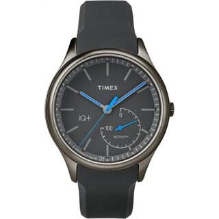 Timex Men's Smart TW2P94900 IQ+ Move Activity Tracker Gray/Black/Blue Silicone Strap Watch