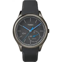 Timex Men's Smart TW2P94900 IQ+ Move Activity Tracker Gray/Black/Blue Silicone Strap Watch - grey