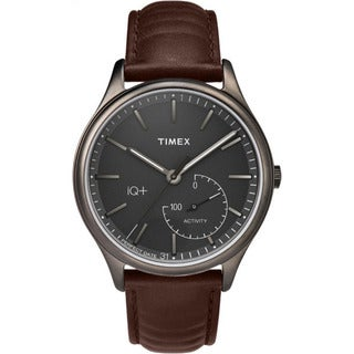 Timex Smart Men's TW2P94800 IQ+ Move Activity Tracker Brown Leather Strap Watch