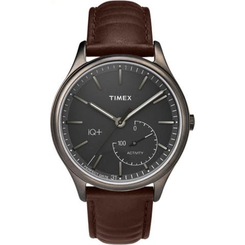 Timex Men's TW2P94800 IQ Plus Move Activity Tracker Watch - brown
