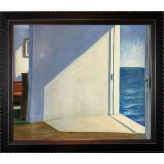Edward Hopper 'Rooms by The Sea' Hand Painted Framed Oil Reproduction on Canvas