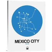 NAXART Studio 'Mexico City Blue Subway Map' Stretched Canvas Wall Art