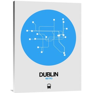 NAXART Studio 'Dublin Blue Subway Map' Stretched Canvas Wall Art