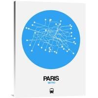 NAXART Studio 'Paris Blue Subway Map' Stretched Canvas Wall Art