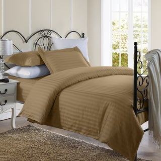 Ellington Home 1800 Series 3 Piece Damask Stripe Duvet Cover Set