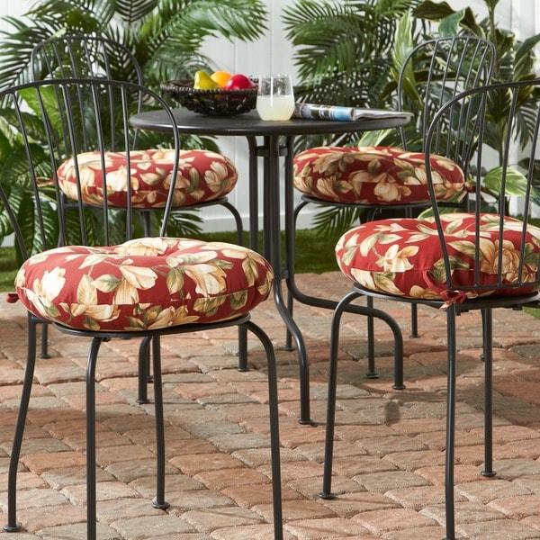 18 Inch Outdoor Round Bistro Chair Cushion (Set Of 4)   18 W X 18