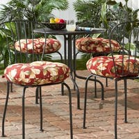 Porch & Den Rosewood Coleto 18-inch Outdoor Round Bistro Chair Cushion (Set of 4)