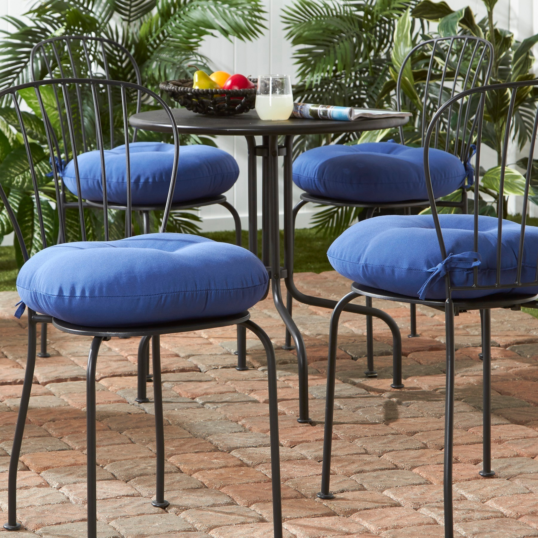 Shop 18 Inch Outdoor Round Solid Bistro Chair Cushion Set Of 4