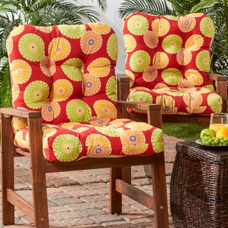 Outdoor Seat/Back Chair Cushion (Set of 2)