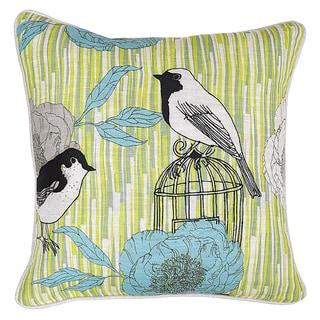 Birdsong Multi Color 18-inch Throw Pillow