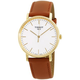 Tissot T-Classic Silver Dial Leather Strap Men's Watch T1094103603100