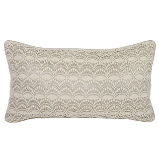 Kosas Home Tanner Ivory and Silver 14 x26 Pillow