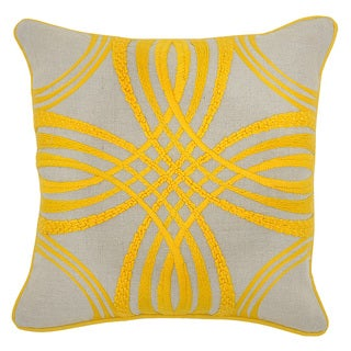Kosas Home Zelda Yellow 18-inch Throw Pillow