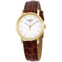 Tissot White Dial Leather Strap Men's Watch