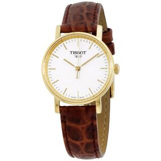 Tissot White Dial Leather Strap Men's Watch