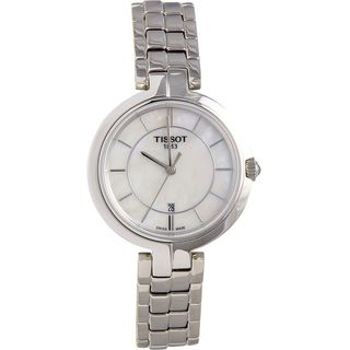Tissot Flamingo Mother of Pearl Dial Stainless Steel Ladies Watch