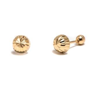 Pori 14k Solid Gold Stud Earrings