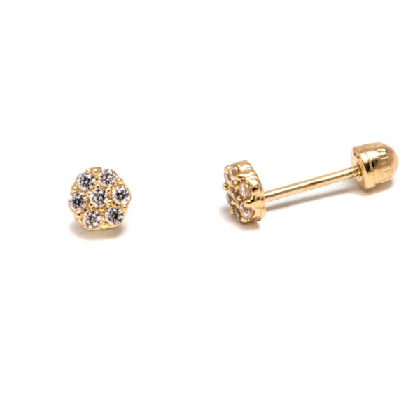 88820f5ed8ce3 Solid Gold Flower Stud Earrings - Flowers Healthy