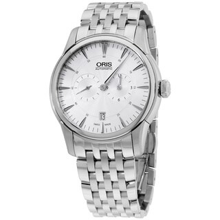 Oris Men's 01 749 7667 4051-07 8 21 77 'Artelier Regulateur' Silver Dial Stainless Steel Chronograph Swiss Automatic Watch