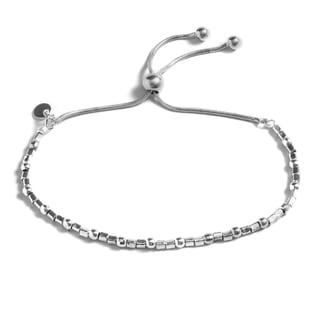 Pori Jewelers Sterling Silver Box Adjsutable Bracelet