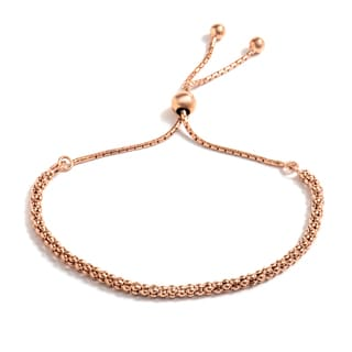 Pori Jewelers 18k Rose Goldplated Sterling Silver Coreana Adjustable Bracelet