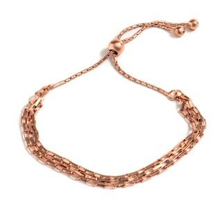 Pori Jewelers 18k Rose Goldplated Sterling-silver Open-link Adjustable Bracelet
