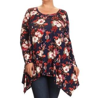 Women's Jersey Knit Plus Size Floral Top