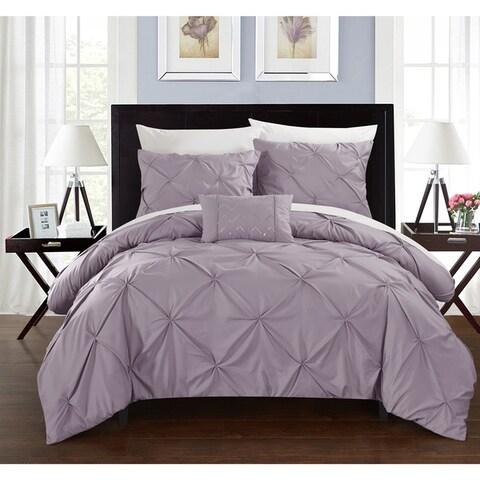 Silver Orchid Niven 4-piece Lavender Duvet Cover Set