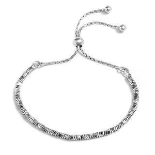 Pori Jewelers Sterling-silver Twisted Snake Chain Adjustable Bracelet