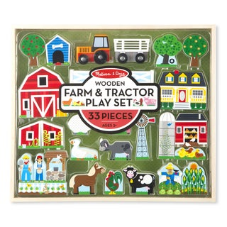 Melissa & Doug Wooden Farm & Tractor Play