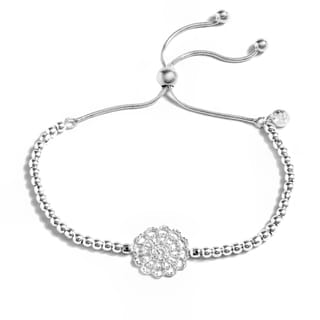 Pori Jewelers Sterling Silver 2-row Adjustable Bracelet