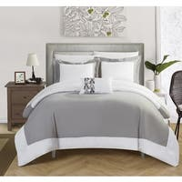 Carson Carrington Askim 4-piece Grey Reversible Duvet Cover Set