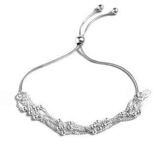 Pori Jewelers Sterling Silver 6-row Adjustable Bracelet