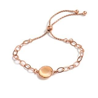 Pori Jewelers Rose-Goldplated Sterling Silver Champagne Crystal Adjustable Bracelet