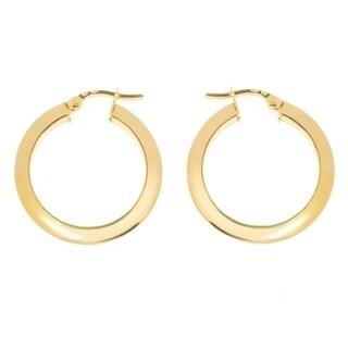 Pori 14k Solid Yellow Gold Hoop Earrings