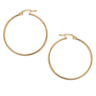 Pori 14k Gold Hoop Earrings