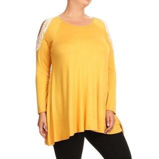 Women's Crochet Lace Shoulder Plus-size Tunic