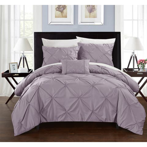 Chic Home 8-Piece Whitley Lavender Duvet and Sheet Set