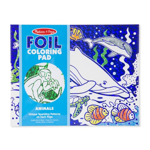 Melissa & Doug Foil Coloring Pad Animals