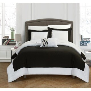 Chic Home 4-Piece Uma Black and White Reversible Duvet Cover Set (2 options available)