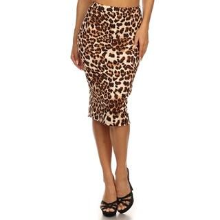Women's Leopard-print Pencil Skirt