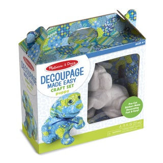 Melissa & Doug Decoupage Made Easy Craft Set Puppy