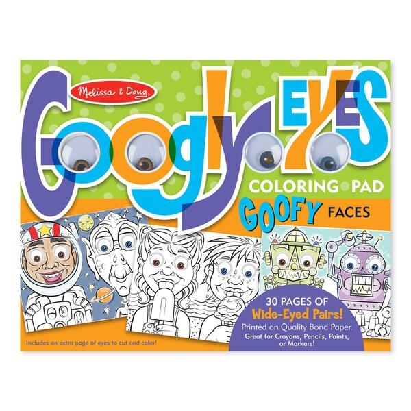 Melissa & Doug Wacky Faces Googly Eyes Coloring Pad