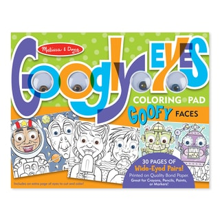 Melissa & Doug Wacky Faces Googly Eyes Coloring Pad