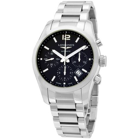Longines Conquest Classic Automatic Black Dial Stainless Mens Watch