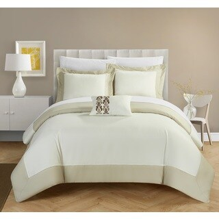 Chic Home 4-Piece Uma Beige Reversible Duvet Cover Set (3 options available)