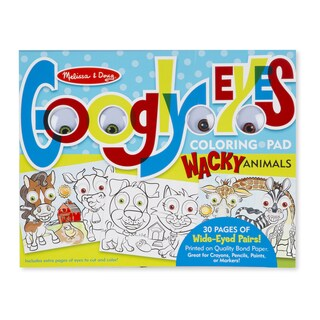 Melissa & Doug Wacky Animals Googly Eyes Coloring Pad