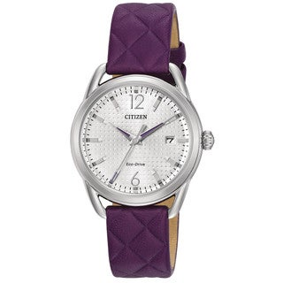 Drive From Citizen Eco-Drive Purple Leather Women's Watch